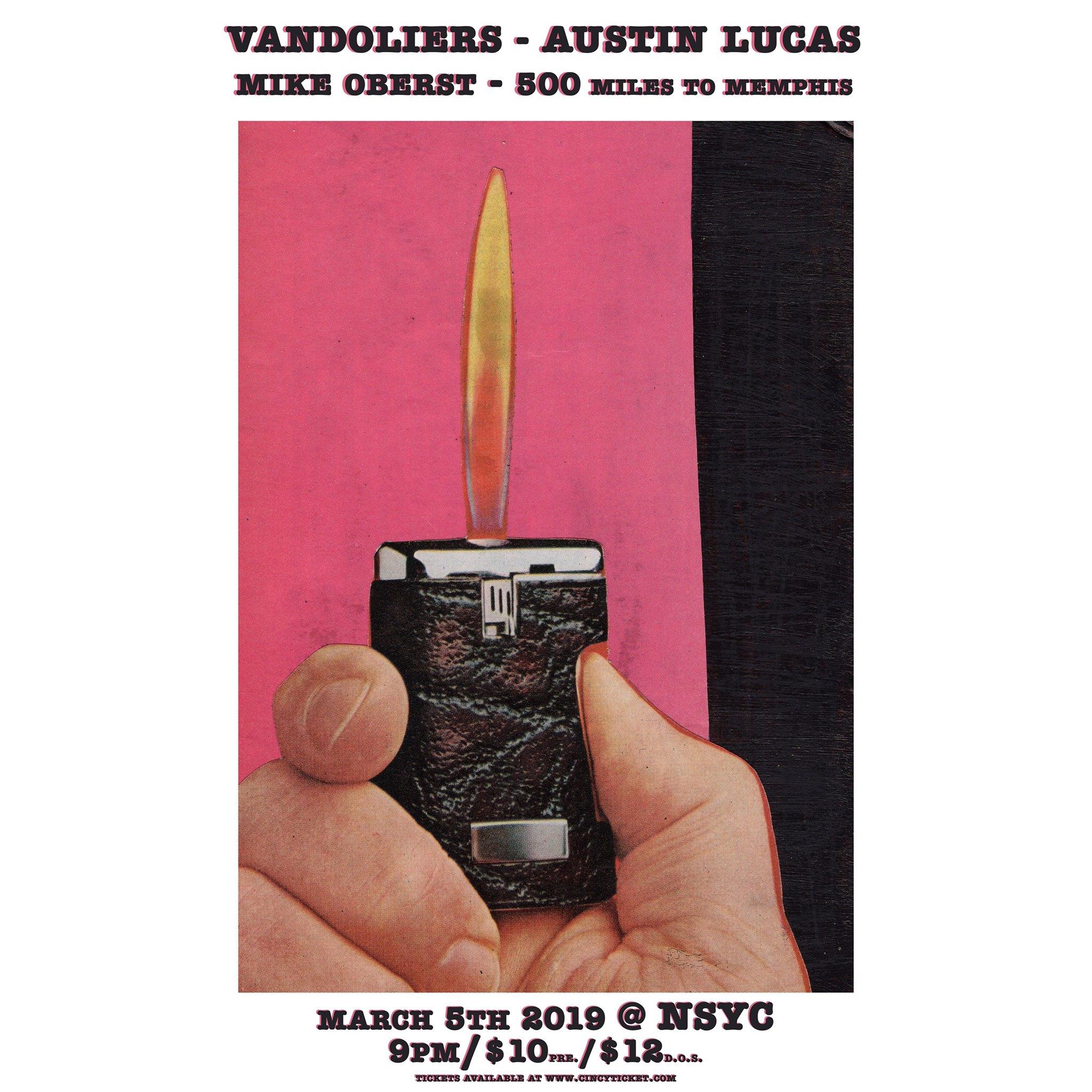 Yacht Club Beer: Vandoliers // Austin Lucas // Mike Oberst // 500mtm